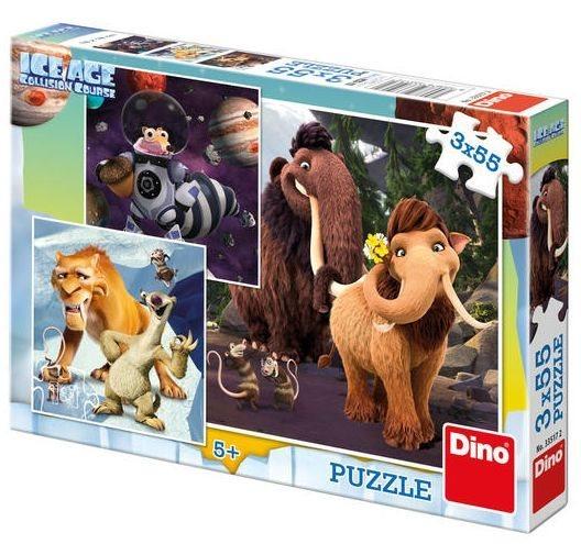 Puzzle DINO - Doba ledová 5: Selfie 3 x 55 dílků