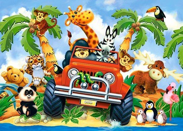 CASTORLAND Puzzle Dobráci na safari 60 dílků