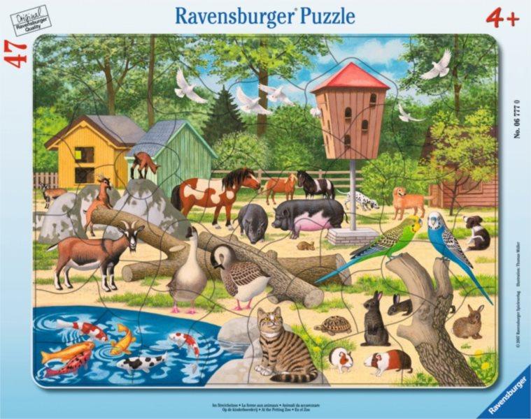 Deskové puzzle RAVENSBURGER - Domácí zvířátka a mazlíčci 47 dílků