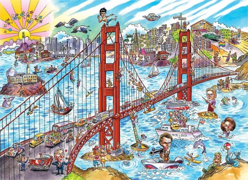 COBBLE HILL Puzzle Doodle Town: San Francisco 1000 dílků