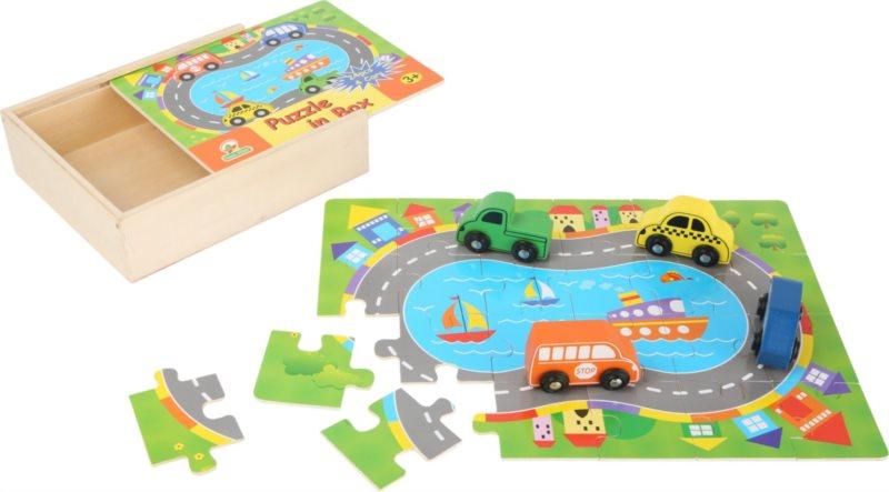 SMALL FOOT Puzzle Doprava 24 dílků + 4 dřevěné figurky