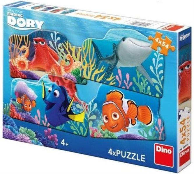 DINO Puzzle Hledá se Dory: Dory a přátelé 4x54 dílků