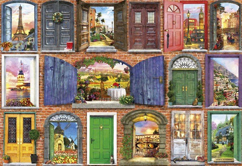 EDUCA Puzzle Dveře Evropy 1500 dílků