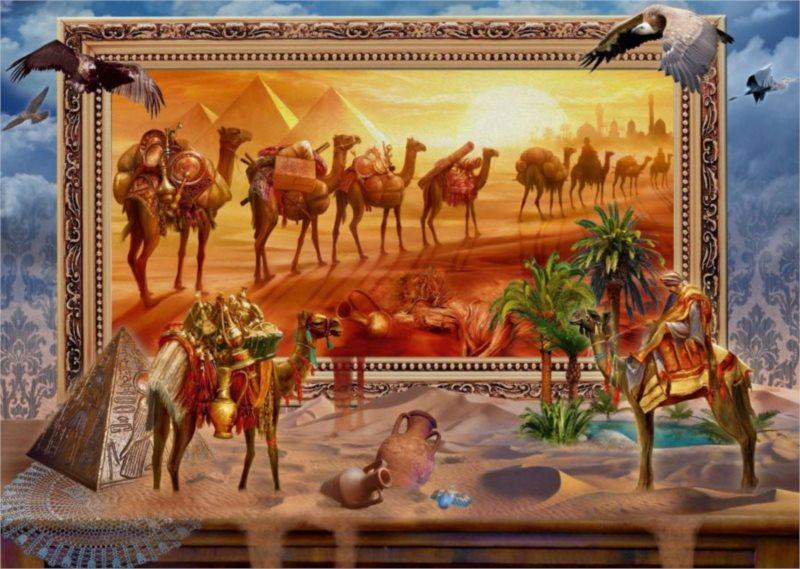 Puzzle SCHMIDT Egypt ožívá 1000 dílků