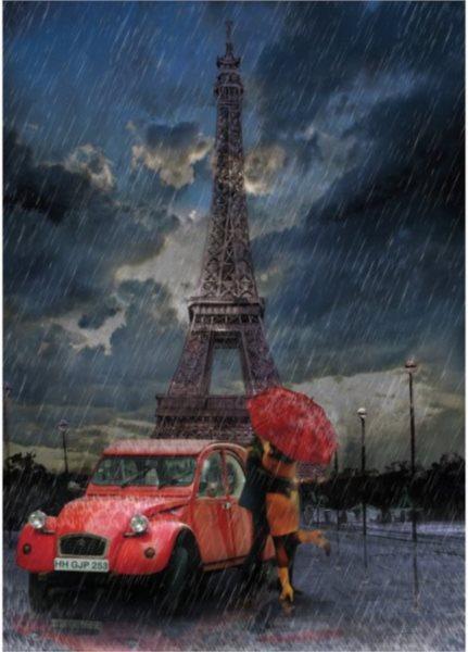 ART PUZZLE Puzzle Eiffelova věž & Déšť & Láska 1000 dílků
