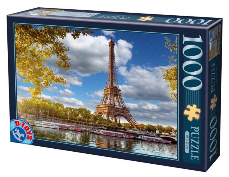D-TOYS Puzzle Eiffelova věž, Paříž 1000 dílků