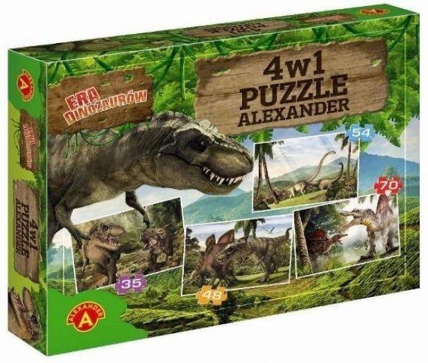 Puzzle pro děti 4v1 - Éra dinosaurů (35,48,54,70 dílků)