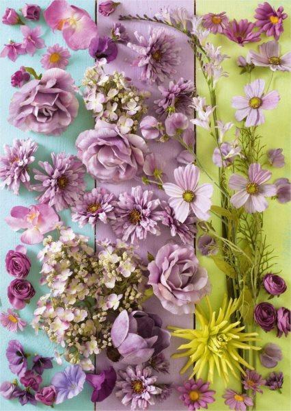 SCHMIDT Puzzle Fialové květiny 1000 dílků