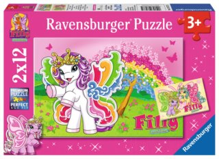 RAVENSBURGER Puzzle Filly Butterfly 2x12 dílků