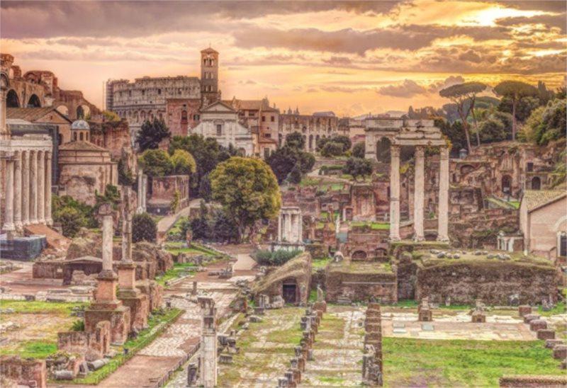 Puzzle JUMBO 18592 Forum Romanum, Řím 5000 dílků