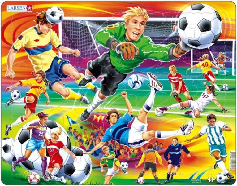 Dětské puzzle LARSEN 65 dílků Fotbal
