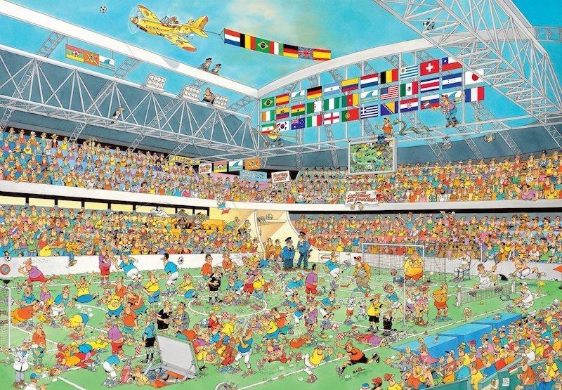 JUMBO Puzzle Fotbalové šílenství 2000 dílků