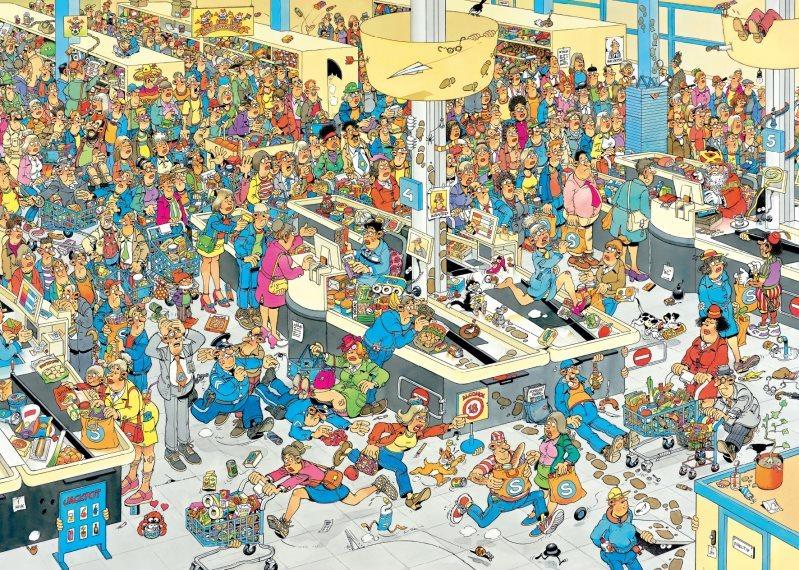 JUMBO Puzzle Fronta u pokladny 2000 dílků