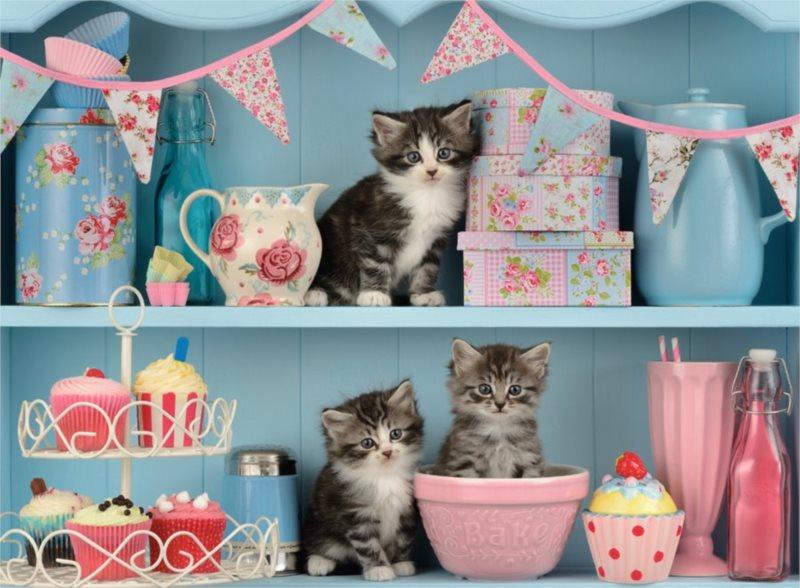 RAVENSBURGER Puzzle Koťata a dortíky 500 dílků
