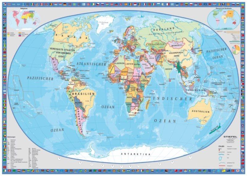 Puzzle SCHMIDT 1000 dílků - Geografická mapa