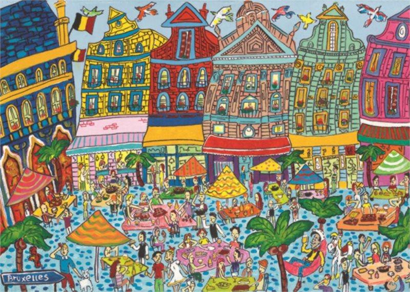 Puzzle JUMBO 18562 Grande-Place, Brusel 1000 dílků
