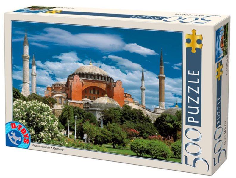 Puzzle D-TOYS 50328 Hagia Sophia, Istanbul 500 dílků