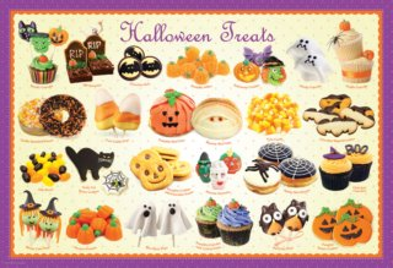 EUROGRAPHICS Puzzle Halloweenské sladkosti 100 dílků
