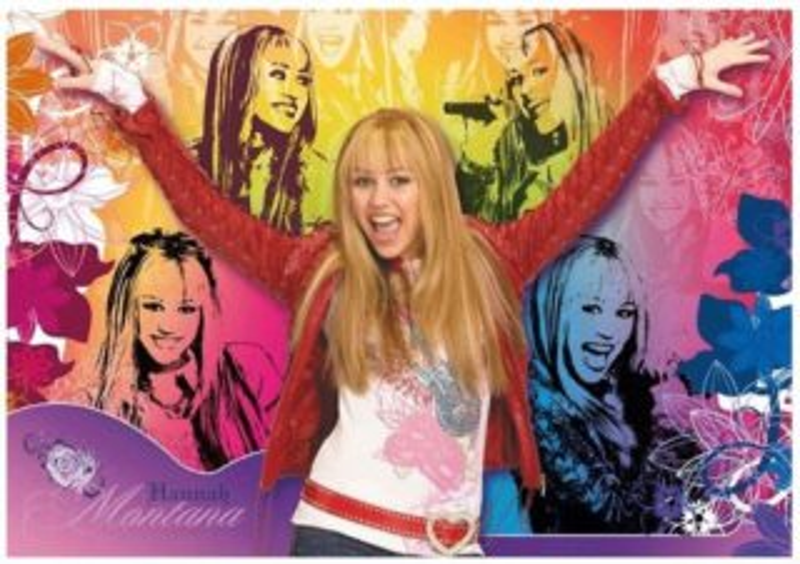 CLEMENTONI Dětské puzzle Supercolor 104 dílků - Hannah Montana