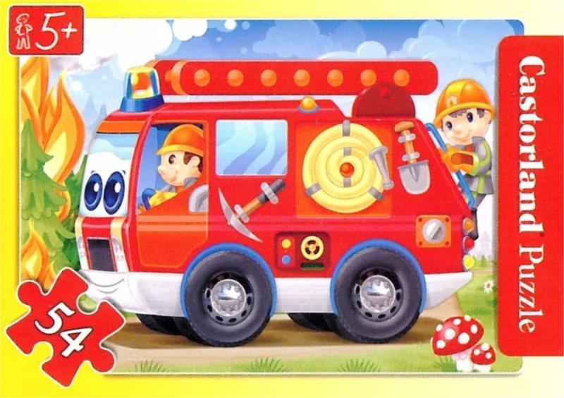 Dětské puzzle 54 dílků - Hasiči