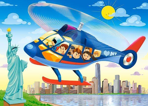 CASTORLAND Puzzle Helikoptérou nad New Yorkem 60 dílků