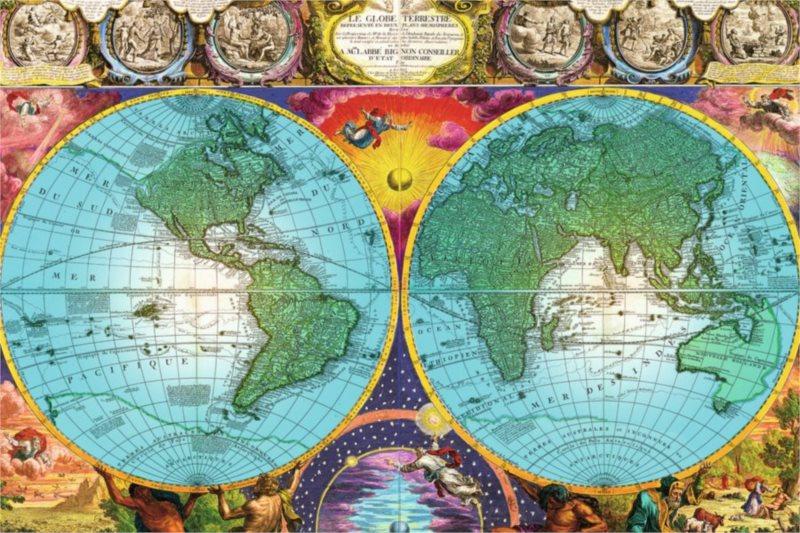 Puzzle RAVENSBURGER 17074 Historická mapa 3000 dílků