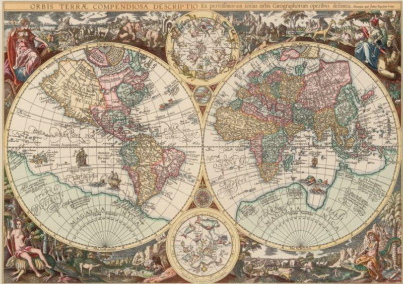 ART PUZZLE Puzzle Historická mapa světa 1500 dílků