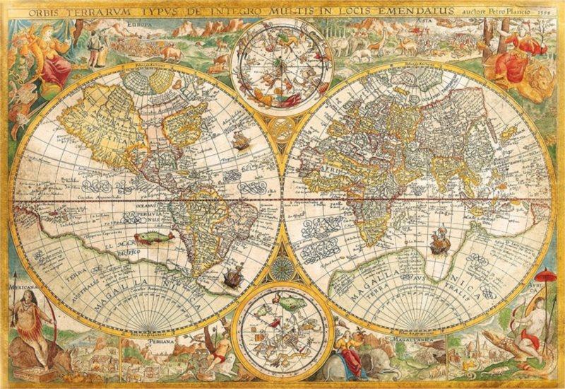 CLEMENTONI Puzzle Historická mapa světa 2000 dílků