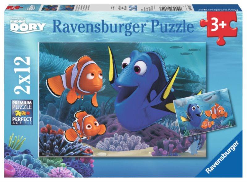RAVENSBURGER Puzzle Hledá se Dory 2x12 dílků