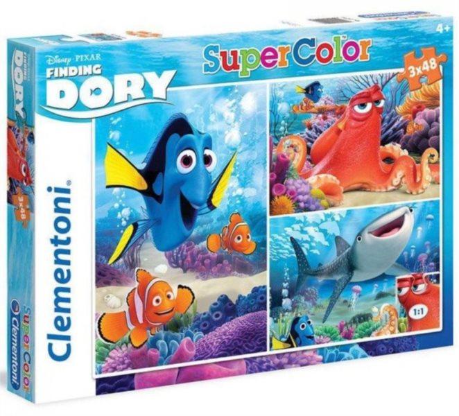 CLEMENTONI Puzzle Hledá se Dory 3x48 dílků
