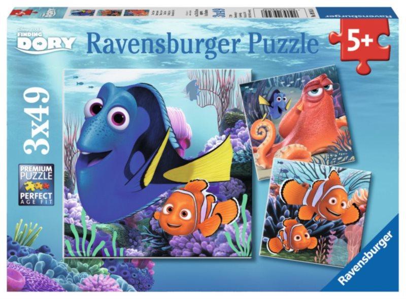 RAVENSBURGER Puzzle Hledá se Dory 3x49 dílků