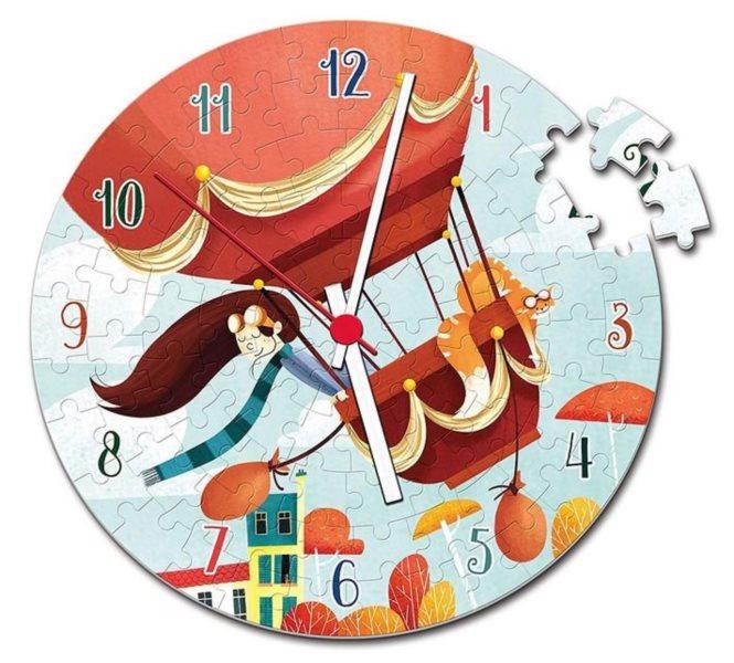 CLEMENTONI Puzzle hodiny Balón ve větru 96 dílků