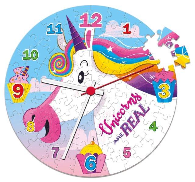 CLEMENTONI Puzzle hodiny I Believe in Unicorns 96 dílků