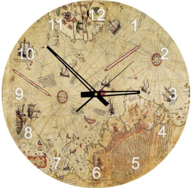 ART PUZZLE Puzzle hodiny Mapa kapitána Reise 570 dílků