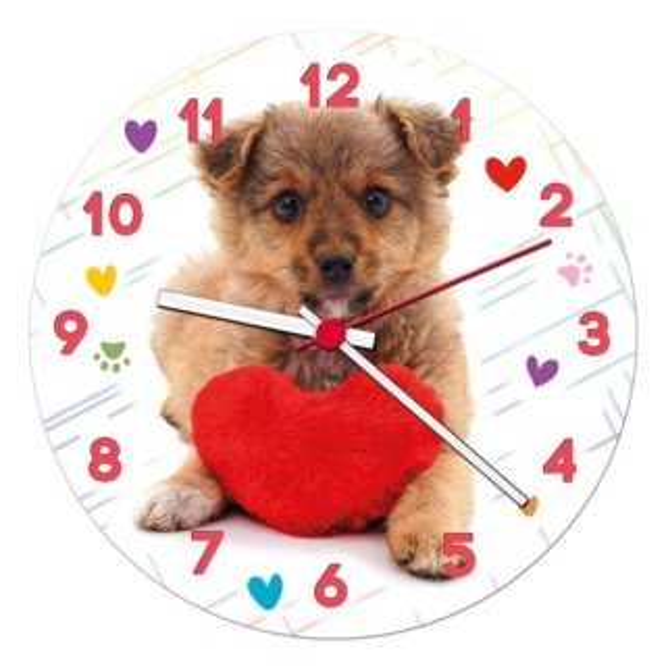 CLEMENTONI Puzzle hodiny Roztomilé štěně 96 dílků