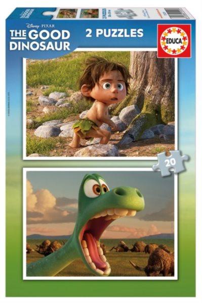 EDUCA 15929 Hodný dinosaurus 2x20 dílků - dětské puzzle