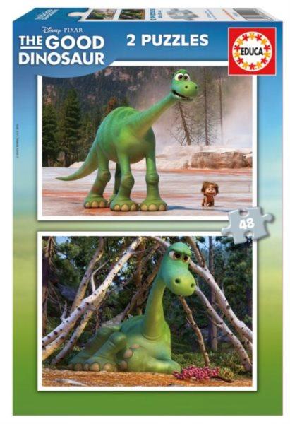 EDUCA Puzzle Hodný dinosaurus 2x48 dílků