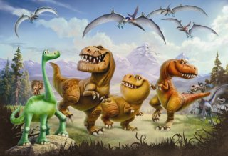 Puzzle Hodný dinosaurus 66 dílků