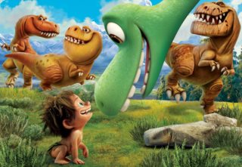 CLEMENTONI puzzle Hodný dinosaurus: Dobrodružství 60 dílků