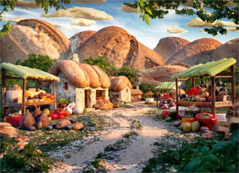 Puzzle SCHMIDT 1000 dílků - Horská vesnička