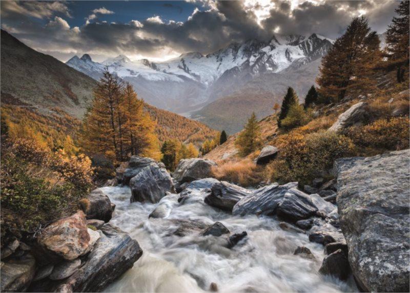 HEYE Puzzle Horský potok, Švýcarsko 1000 dílků