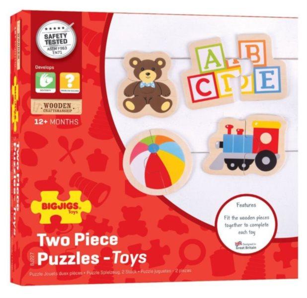 BIGJIGS Puzzle Hračky 4x2 dílky