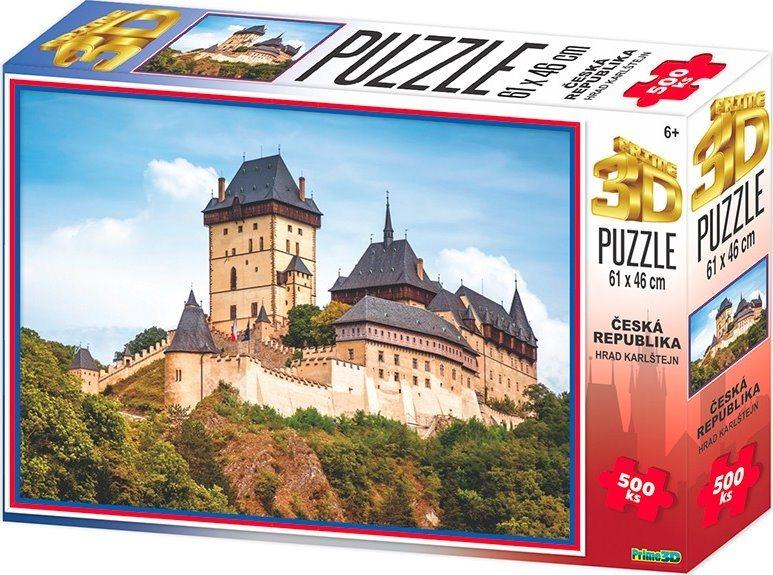 PRIME 3D Puzzle Hrad Karlštejn 3D 500 dílků