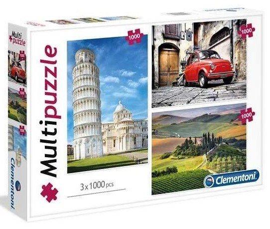 CLEMENTONI Puzzle Itálie 3x1000 dílků