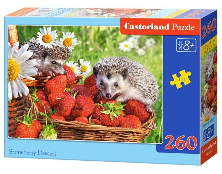 CASTORLAND Puzzle Jahodový dezert 260 dílků