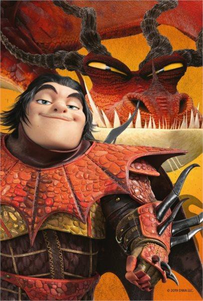 RAVENSBURGER Puzzle Jak vycvičit draka 3: Snoplivec a Tesák 54 dílků