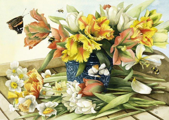 SCHMIDT Puzzle Jarní kytice 1000 dílků