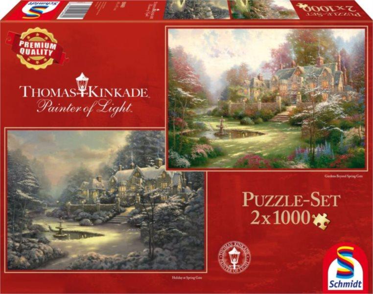 Puzzle SCHMIDT Jaro a zima ve Spring Gate 2 x 1000 dílků