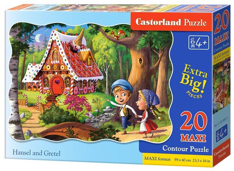 CASTORLAND Puzzle Jeníček a Mařenka MAXI 20 dílků