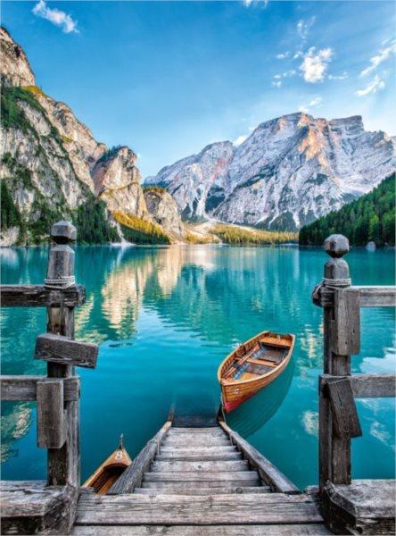 CLEMENTONI Puzzle Jezero Braies, Itálie 500 dílků